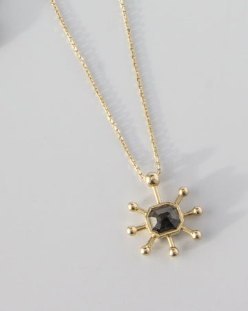 Elysia No. 1 Necklace with Gray Diamond in Gold