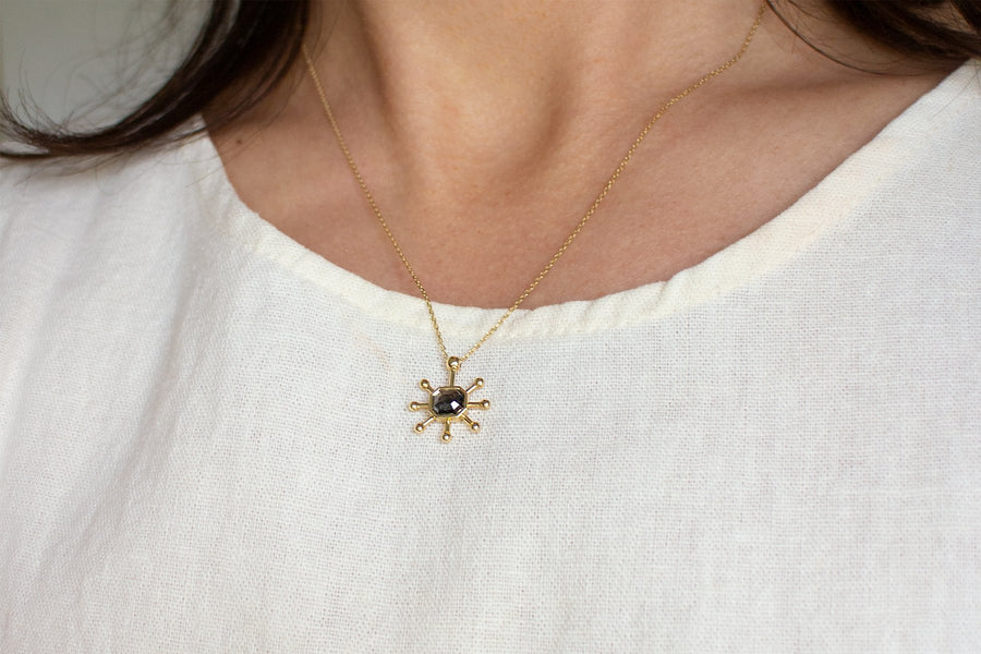 Elysia No. 1 Necklace <br> Gray Diamond & Gold