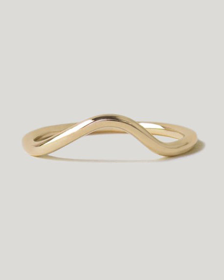 Masumi Contour Band in Gold