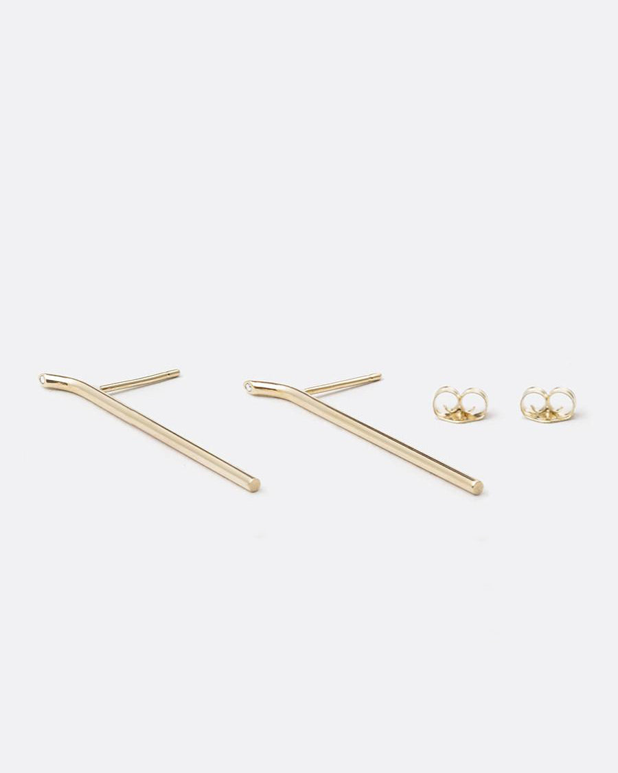 Lero Earrings <br>  Gold & Diamonds