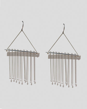 Tented Maya Earrings in Sterling Silver