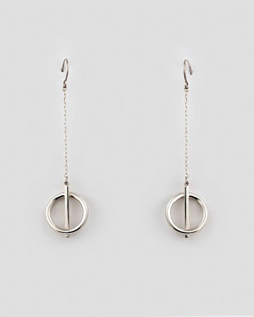 Tilt Earrings in Silver