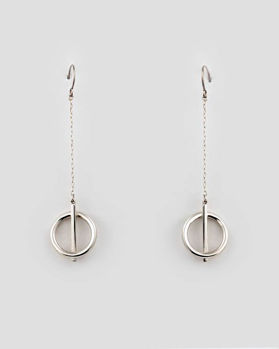 Tilt Earrings <br> Silver