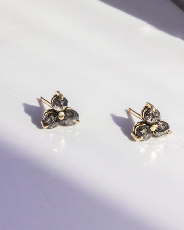 <b>Pepper Diamond Tryptic Studs</b> <br> Gold