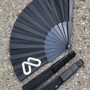 MOOD BLACK FOLDING FAN