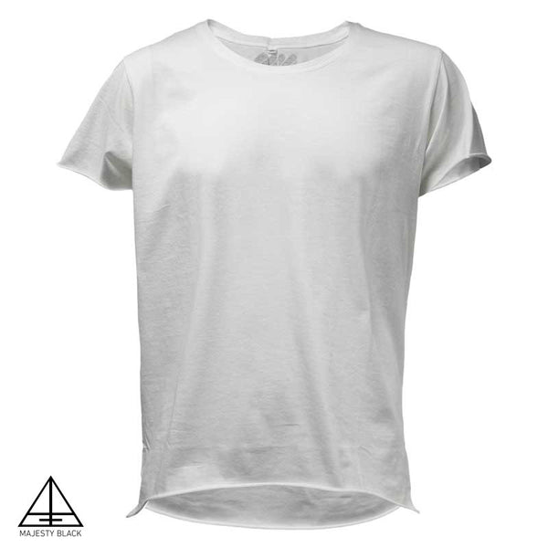 MAJESTY BLACK x NICOLE MOUDABER<br /> PLAIN FRONT WHITE T-SHIRT