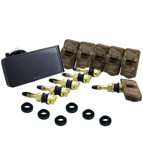 Tuson Towable Tire Pressure Monitoring System- Interchangeable Valve Stems (TPMS6WIVS)