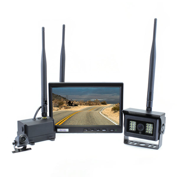RF Wireless Dual Backup Camera System with Hitch View (RFCAM1200A)