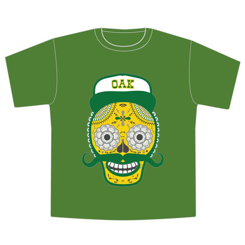Día de los Muertos Oakland As Toddler T-Shirt - Seesaw4kids