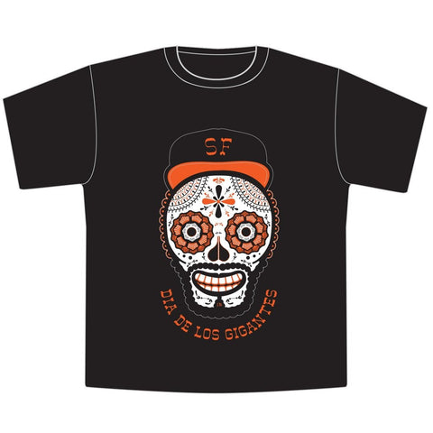 Día de los Muertos San Francisco Giants Black Toddler T-Shirt - Seesaw4kids