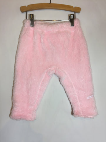 3 Pommes Fuzzy Fleece Pajama Pants Pink  Size:12 months - Seesaw4kids