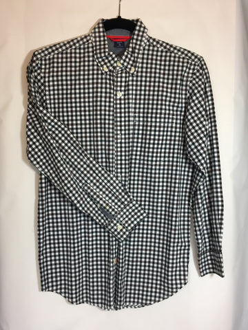 Gap Kids Black Checkered Dress Shirt Size 12 - Seesaw4kids