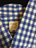 Crewcuts Boys Dress Shirt Checkered Blue Size 14 - Seesaw4kids