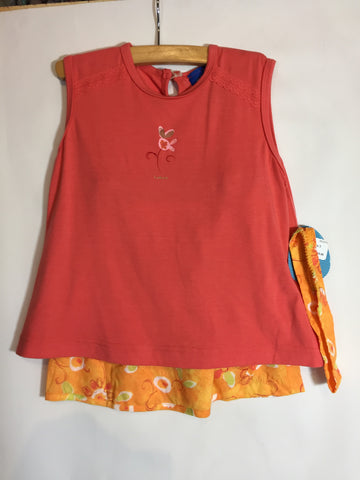 Kaboo 2 piece Skort and T Orange Floral Size 3 - Seesaw4kids