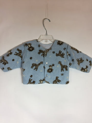 Seeds Cozy Pajama Top Blue With Animals - Seesaw4kids