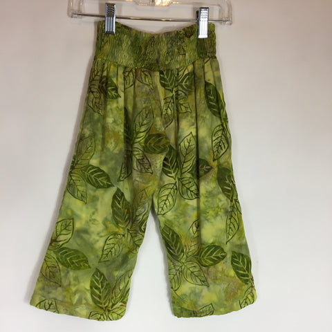 Lollipops Tots Wide Leg Pant Green Leaf Size 2T New - Seesaw4kids