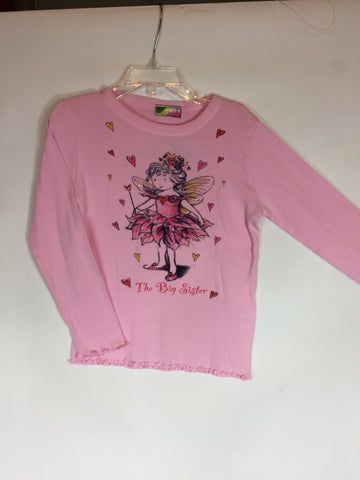 She's The One Long Sleeve Big Sister Pink Size 6 - Seesaw4kids