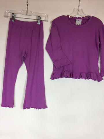Cotton Kidz 2 Piece Pajama Set Purple Size 4T - Seesaw4kids