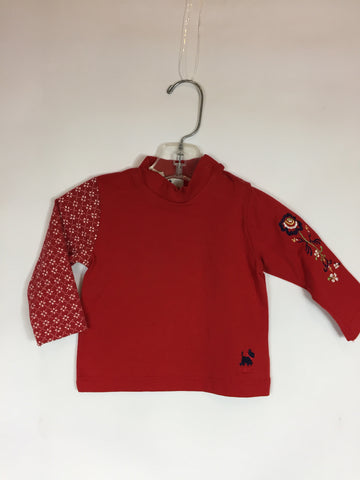 Chipie Kids Long Sleeve Red Flower Shirt - Seesaw4kids