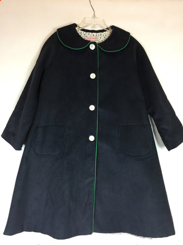 Kayce Hughes Long Corduroy Coat Blue Size 8 NEW - Seesaw4kids