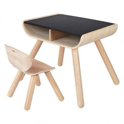 Plan Toys Table & Chair – Black - Seesaw4kids