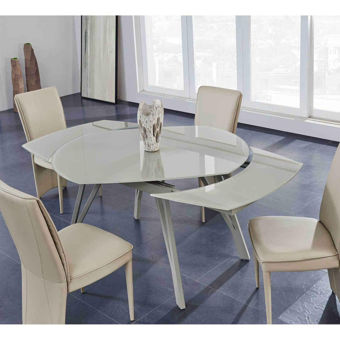 D2177DT W/D6605DC-TAUPE  DINING SET