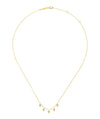 14K Yellow Gold Kite Shaped Drops Station Necklace with Diamonds