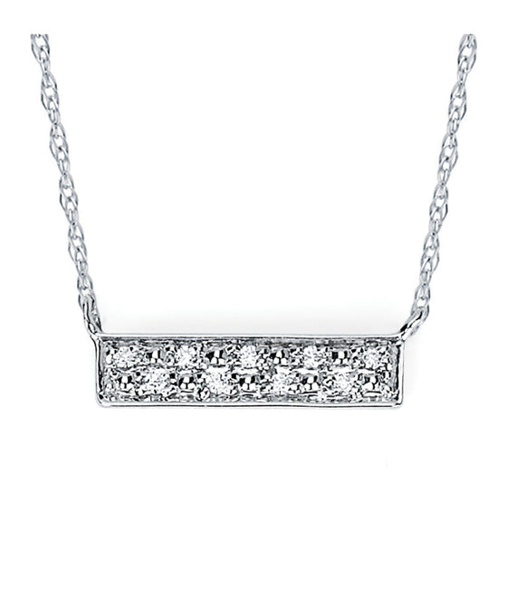 Ostbye - 14K White Gold Stacked Bar Pendant