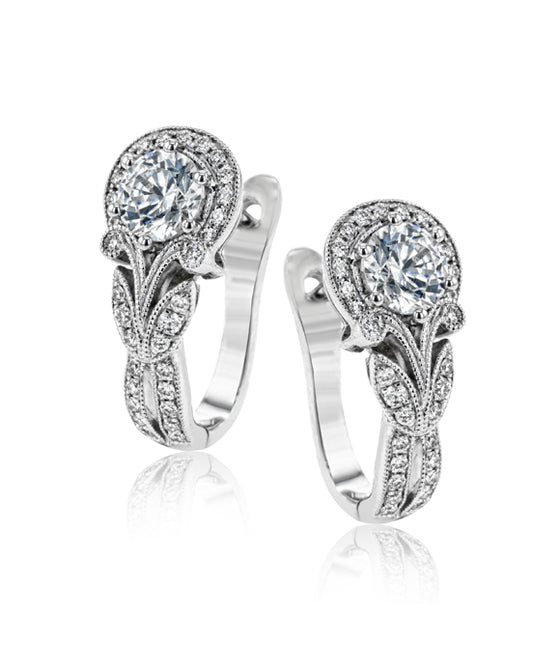 Simon G. - 18K White Gold Earrings