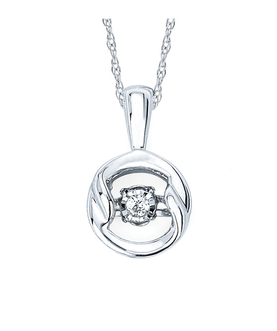 Ostbye - Sterling Silver Circle Diamond Pendant