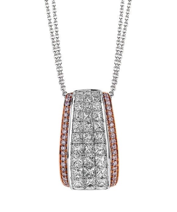 Simon G. - 18K Gold Two-Tone Diamond Pendant
