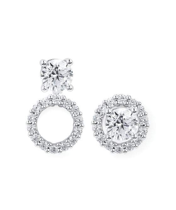 Ostbye - 14K White Gold Halo Earrings
