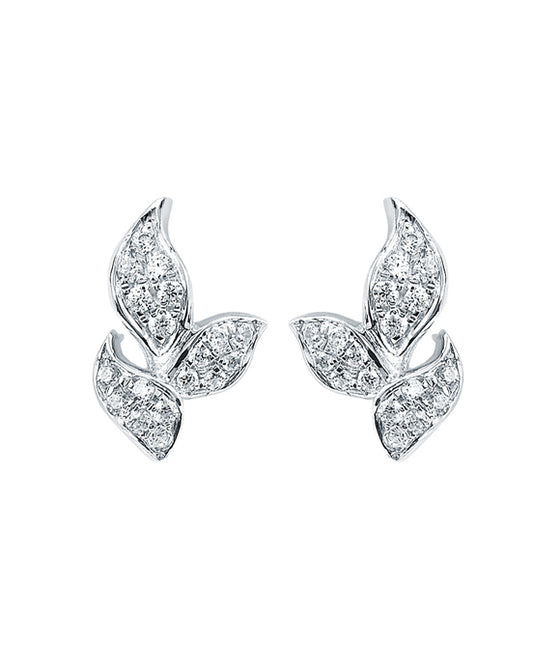 Ostbye - 14K White Gold Diamond Earrings
