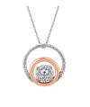 Ostbye - 14K White & Rose Gold Diamond Pendant