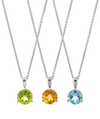 14K White Gold Birthstone Pendant