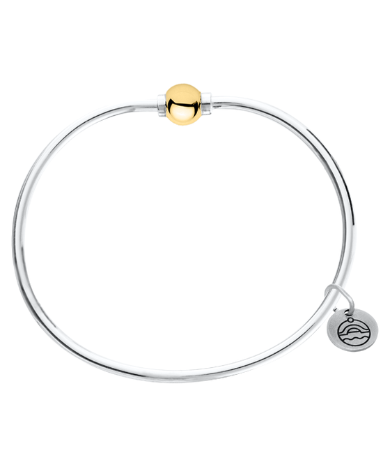 Cape Cod Two Tone Sterling Silver & Yellow Gold Bracelet