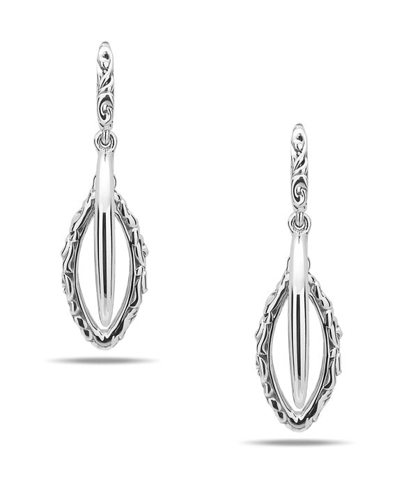 Charles Krypell Ivy Sterling Silver Earrings