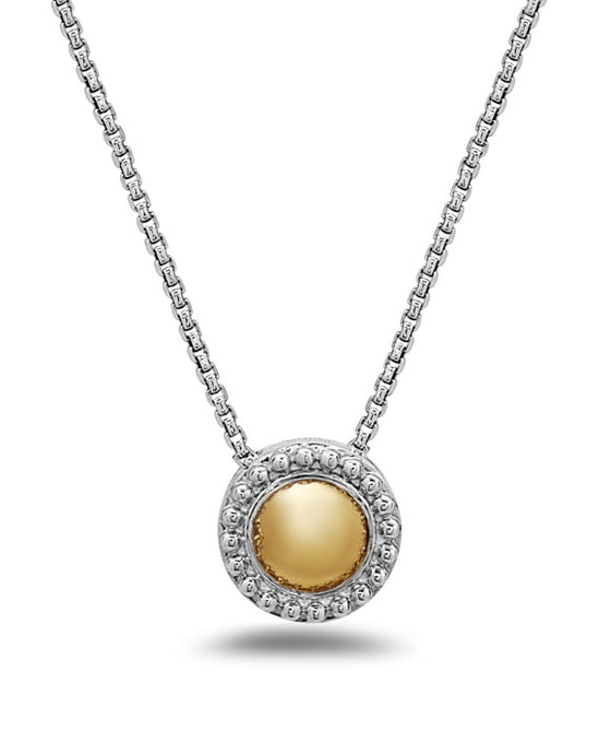 Charles Krypell 18K Gold & Sterling Silver Two-Tone Circle Necklace
