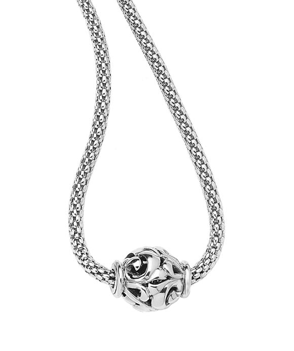 Charles Krypell Sterling Silver Bead Necklace