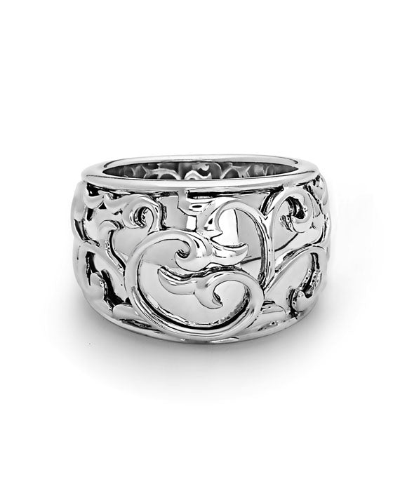 Charles Krypell Ivy Lace Sterling Silver Band Ring