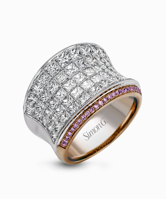 Simon G. - 18K Gold Two-Tone Diamond Ring