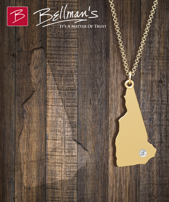 New Hampshire Necklace Gold and Silver