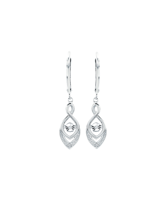 Ostbye - Sterling Silver Diamond Drop Earrings