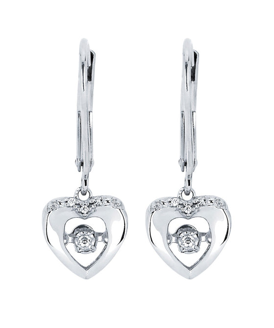 Ostbye - Sterling Silver Heart Drop Earrings