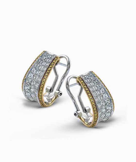 Simon G. - 18K Gold Two Tone Earrings