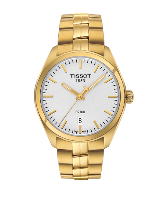 Tissot PR 100 Yellow Gold Tone