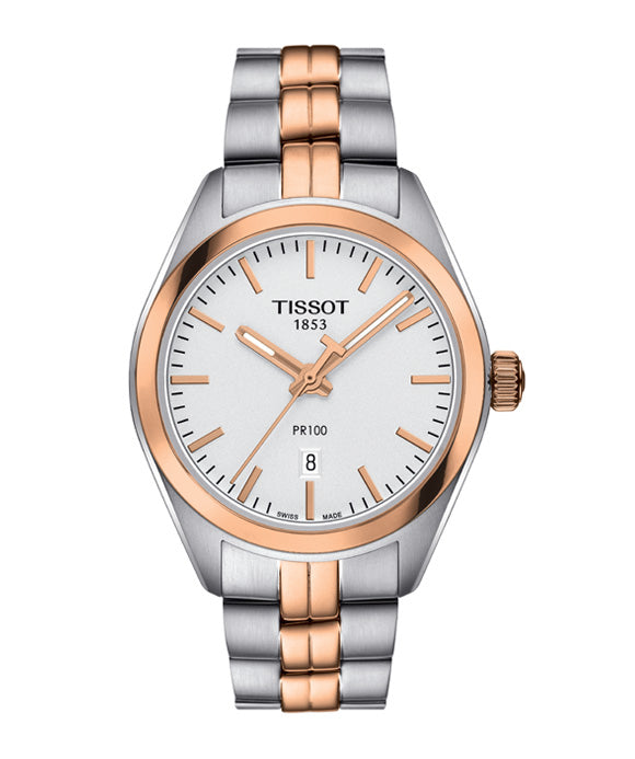 Tissot PR 100 Lady Two Tone Rose Gold