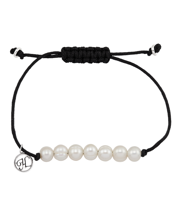 White Ringed Fresh Water Cultured Pearl Bracelet