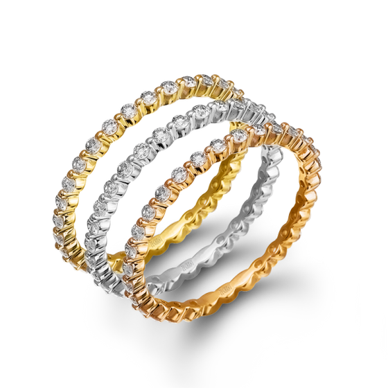 Zeghani - 14K Yellow Gold Eternity Band