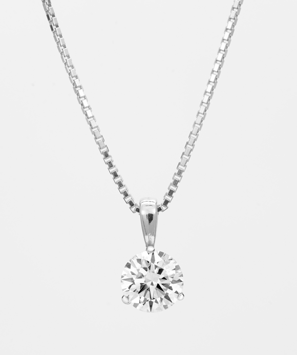 Diamond Solitaire Necklace